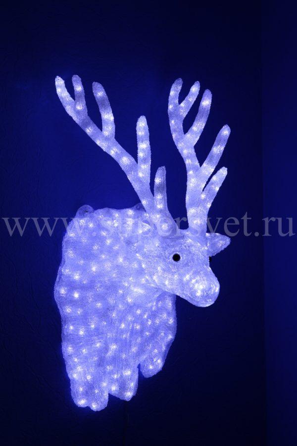 """Новогодняя фигура """"Голова Оленя"""" LED-XM(IC)-TR044-24V Мощность 39 Вт Размер 0.61×0.34×0.24 м Цвет белый"""