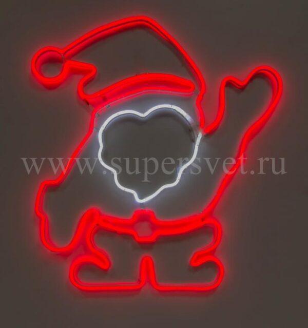 Новогодняя фигура SN-FX-M-ДЕД МОРОЗ-220V-R/W Мощность 15 Вт Размер 0,85×0,9м Цвет красно белый