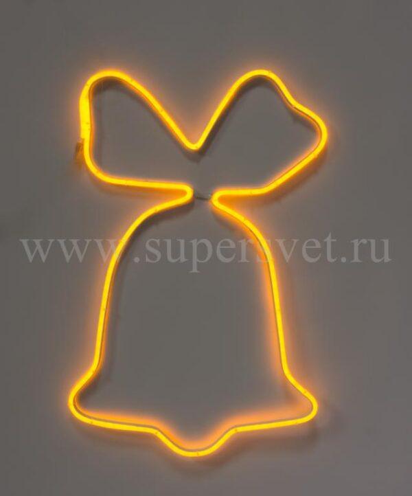 Новогодняя фигура SN-FX-M-КОЛОКОЛЬЧИК-220V-Y Мощность 12 Вт Размер 0,75×0,75м Цвет желтый