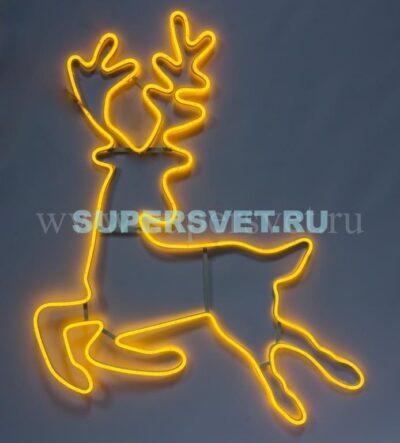 Новогодняя фигура SN-FX-M-ОЛЕНЬ-I-220V-Y Мощность 30 Вт Размер 1×1,24м Цвет желтый