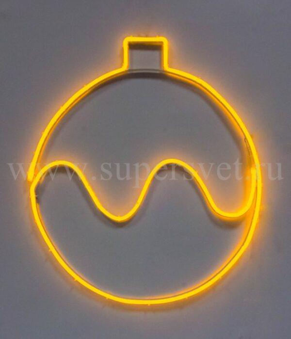 Новогодняя фигура SN-FX-M-ШАР-220V-Y Мощность 15 Вт Диаметр 60 см Цвет желтый