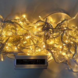 Светодиодная гирлянда LED-PL-BR-200-24V-WW Мощность 12 Вт Длина 20м Напряжение 24 Цвет желтый