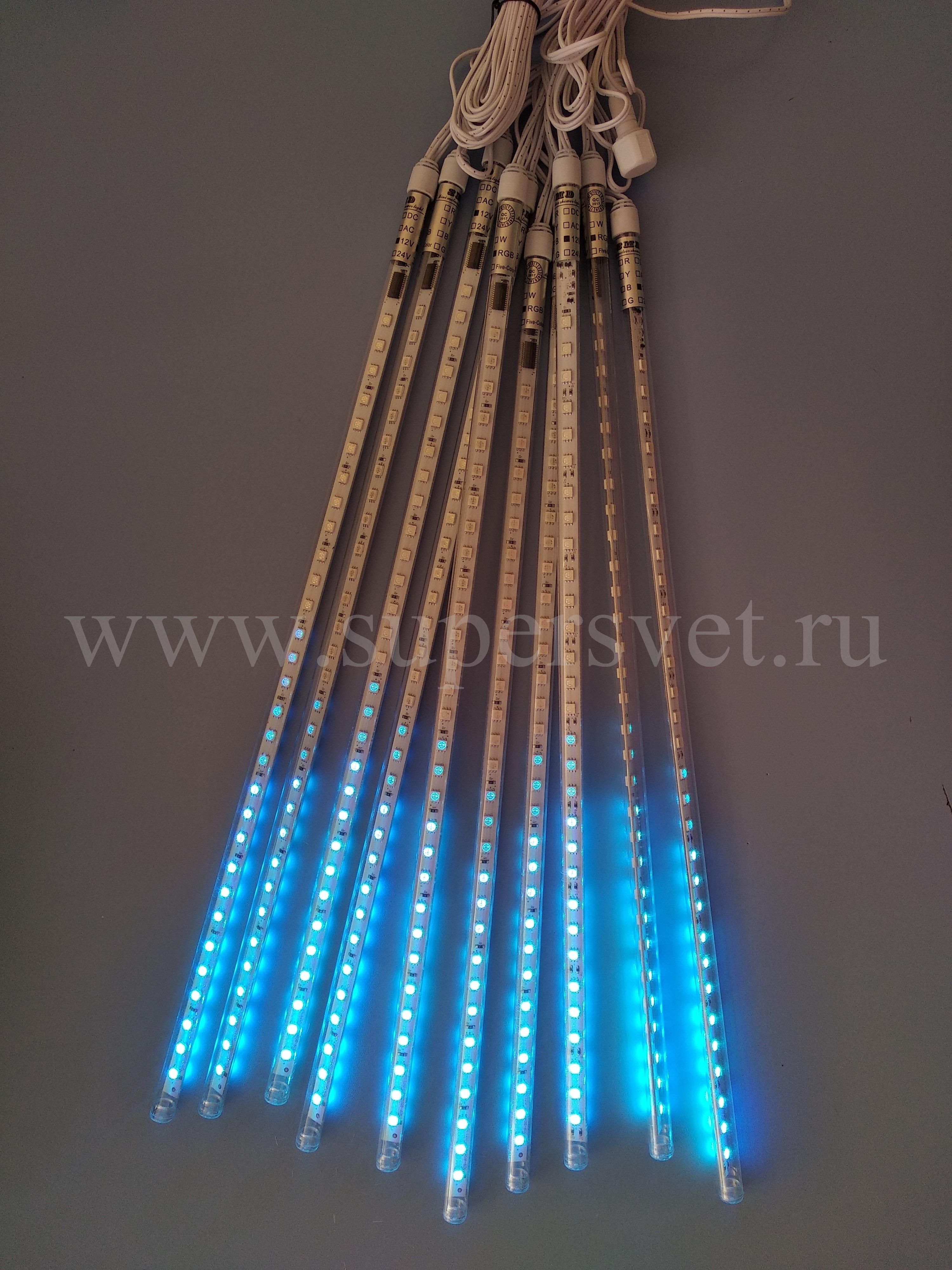 Светодоидная гирлянда LED-SF-50СМ-10М-12V-RGB (МУЛЬТИ) Длина 10 м Высота 0,5 м Цвет мульти Напряжение 12