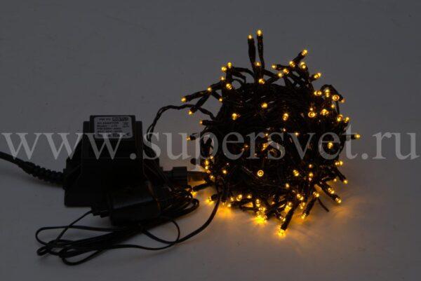 Светодиодная гирлянда LED-TW-180L-5M-24V-Y Мощность 19 Вт Длина 5м Напряжение 24В Цвет желтый