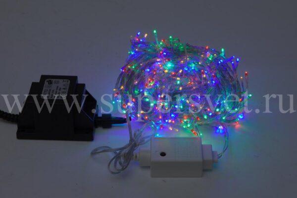 Светодиодная гирлянда твинкл лайт LED-TW-360L-10M-24V-M Мощность 36 Вт Длина 10м Напряжение 24В Цвет мульти