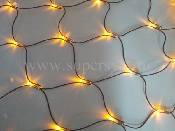 Светодиодная сетка LED-SNL-С-180-24V-Y Мощность 7.2 Вт Размер 2,4х1,2 м Цвет желтый