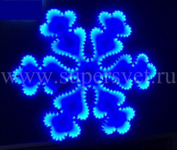Светодиодная снежинка LED-LT-SNOW-68СМ-220V-B Мощность 24 Вт Размер 0.7 0.6м Цвет синий