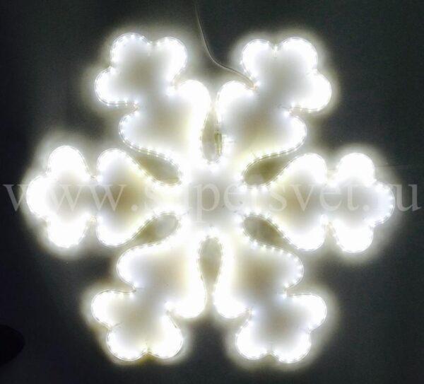 Светодиодная снежинка LED-LT-SNOW-68СМ-220V-W Мощность 24 Вт Размер 0.7 0.6м Цвет белый