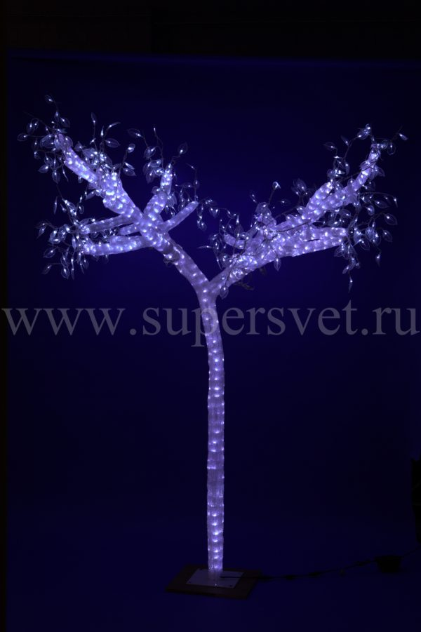Светодиодное дерево Ель PHS-014-24V-W Мощность 100 Вт Высота 2,5м Напряжение 24 Цвет белый