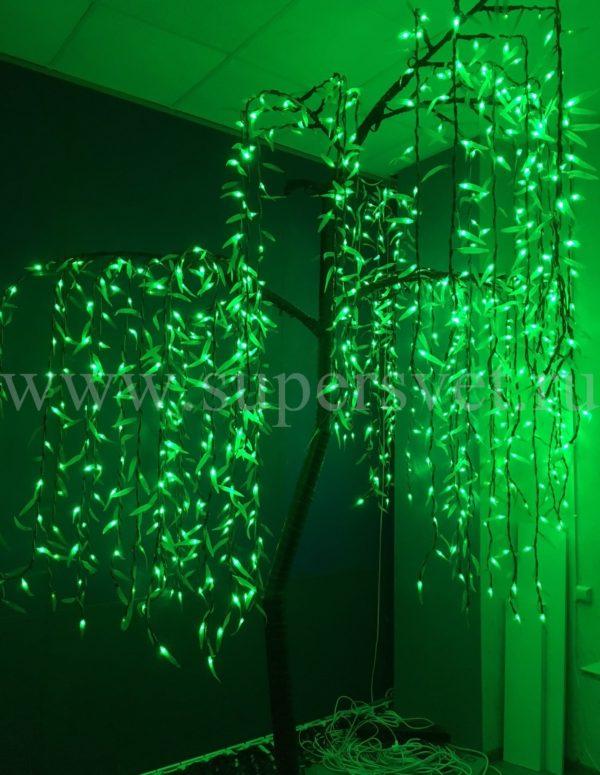 Светодиодное дерево Ива PHYCL-3,0-G Мощность 180 Вт Высота 3 м Напряжение 36 Цвет зеленый