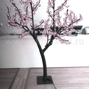 Светодиодное дерево Сакура РHYCL-1.5-W Мощность 30 Вт Высота 1,5м Напряжение 36 Цвет белый