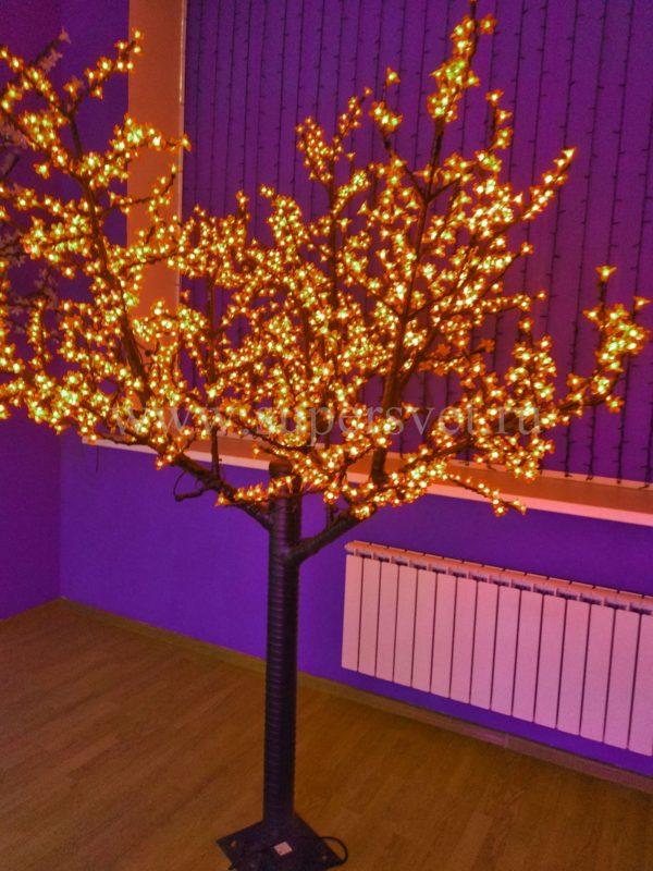 Светодиодное дерево Сакура PHYCL-2.4-Y Мощность 136 Вт Высота 2,4 м Напряжение 24 Цвет желтый