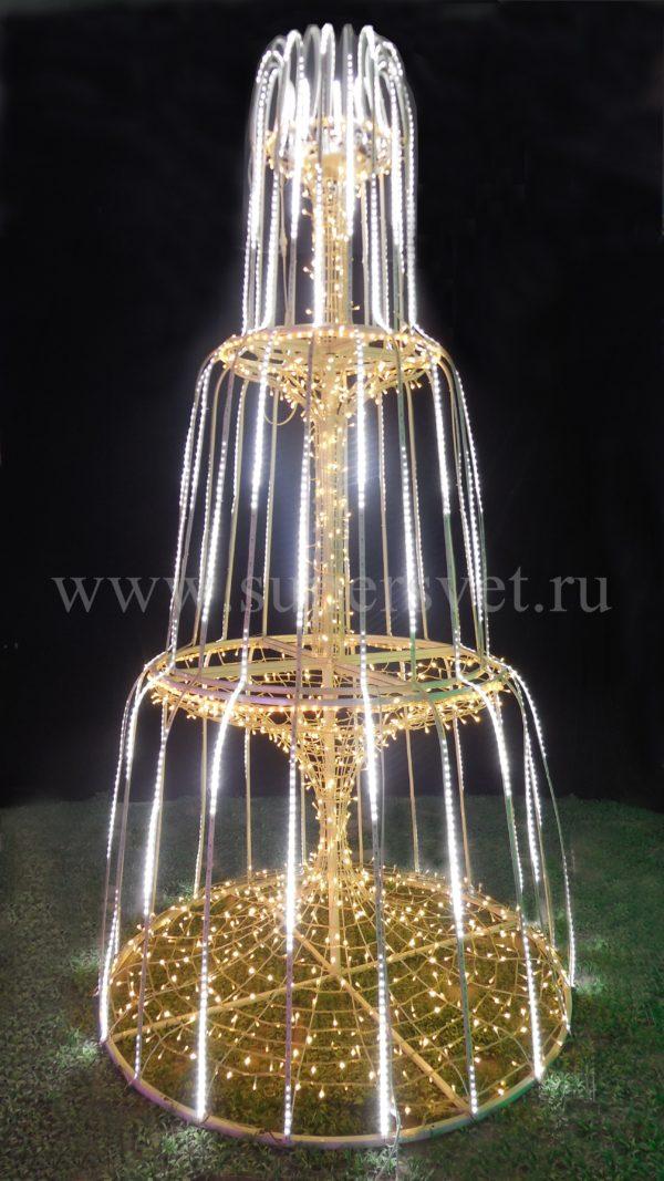 Светодиодная фигура фонтан BN-280 Мощность 390 Вт Размер 3×1.5 м Цвет теплый белый холодный белый