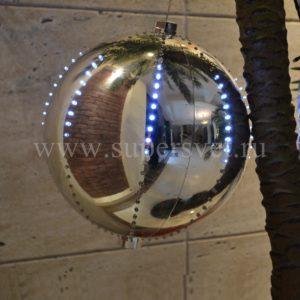 Шар LED-BALL-2024-W-G-30СМ Мощность 6 Вт Диаметр 30 см Напряжение 6 Цвет золотой