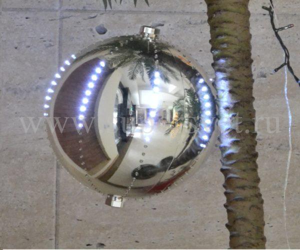 Шар LED-BALL-2024-W-S-30СМ Мощность 6 Вт Диаметр 30см Напряжение 6 Цвет серебро