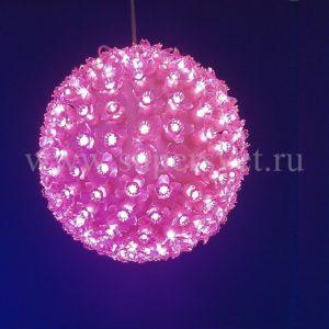 Шар LED-FBP-160-220V-P Мощность 20 Вт Размер 16 см Цвет розовый
