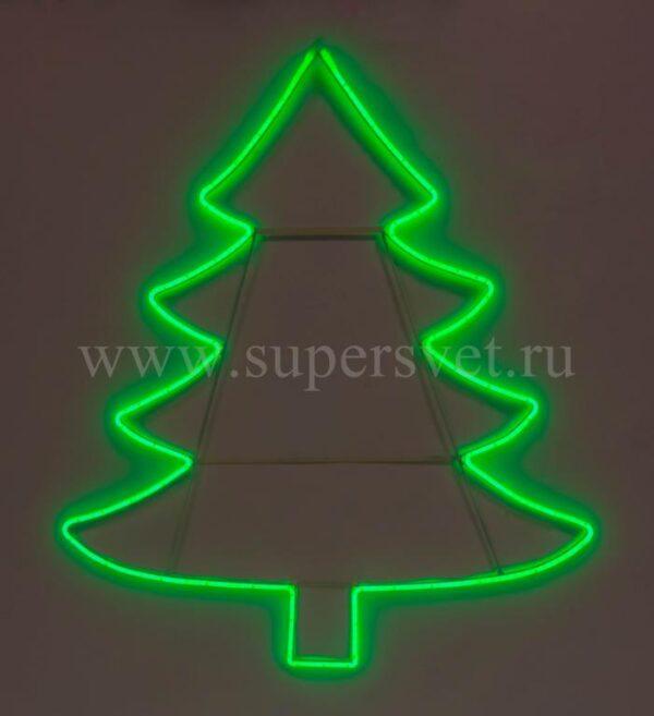 Новогодняя фигура SN-FX-M-ЁЛКА-S-220V-G Мощность 12 Вт Размер 0,68×0,76м Цвет зеленый