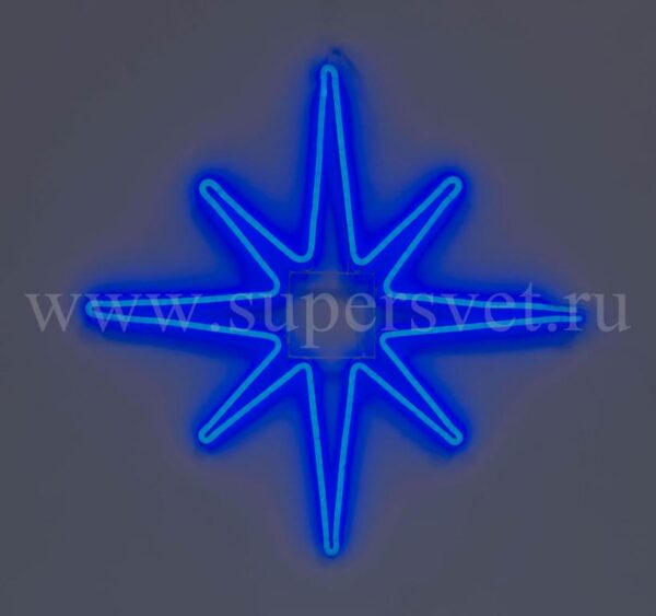 Новогодняя фигура SN-FX-M-ЗВЕЗДА-220V-B Мощность 20 Вт Размер 0,75×0,75м Цвет синий
