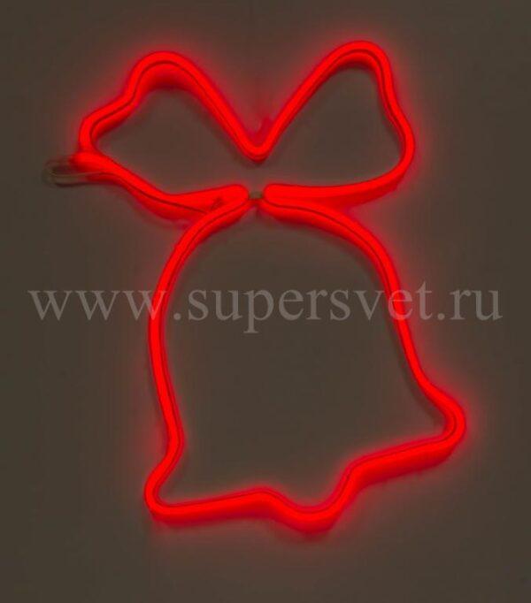 Новогодняя фигура SN-FX-M-КОЛОКОЛЬЧИК-220V-R Мощность 12 Вт Размер 0,75×0,75м Цвет красный