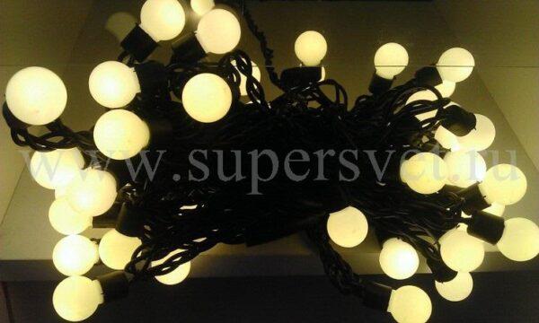 Светодиодная гирлянда SDL-LNA-50F-220V-WW Мощность 8 Вт Длина 7,5м Напряжение 220 Цвет белый