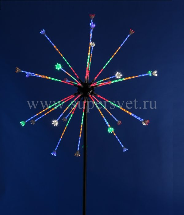 """Светодиодная конструкция """"Салют"""" LED-EM-003 Мощность 50 Вт Диаметр 120 см Высота 250 см Напряжение 24 Цвет ргб"""