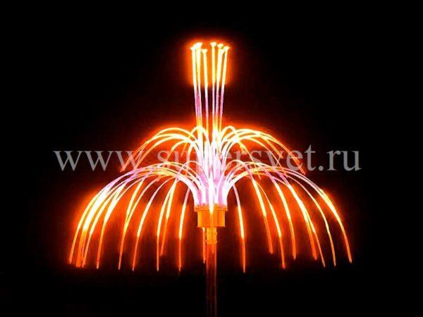 """Светодиодная конструкция """"Магнолия"""" LED-EM-006 Мощность 250 Вт Диаметр 200 см Напряжение 24 Цвет ргб"""
