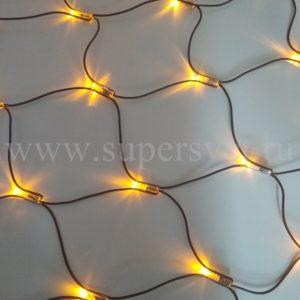 Светодиодная сетка LED-SNL-S-180-24V-Y Мощность 7,2 Вт Размер 2,4х1,2 м Цвет желтый