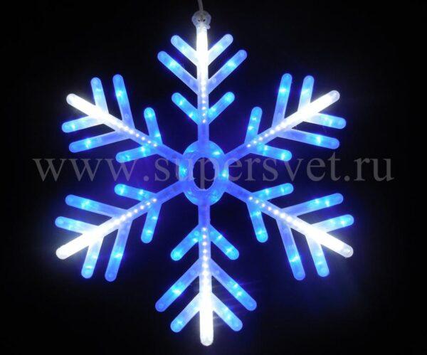 Светодиодная снежинка ВN-SNOWFLAKE-60-220V Мощность 18 Вт Диаметр 60см Цвет бело-синий