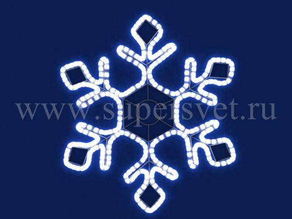 Светодиодная снежинка LED-LT-SNOW-120СМ-220V-W Мощность 25 Вт Диаметр 120 см Цвет белый