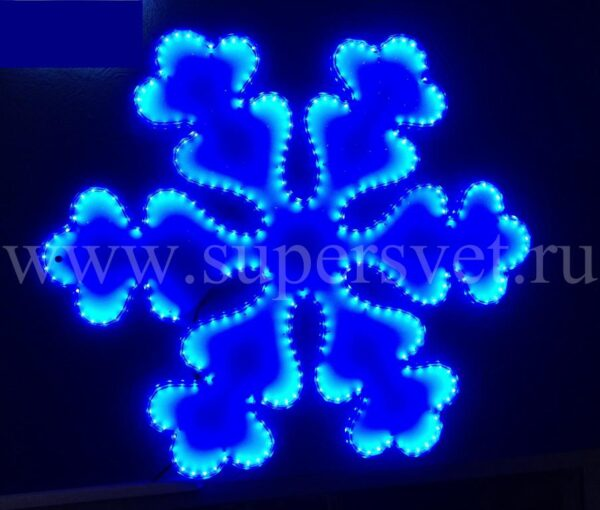 Светодиодная фигура LED-LT-SNOW-68СМ-220V-B Мощность 24 Вт Размер 0.7 0.6м Цвет синий