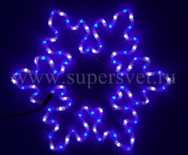 Светодиодная снежинка LED-XM(FR)-004-220V-W/B Мощность 12 Вт 0.76 0.64м Цвет бело-синий