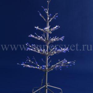 """Светодиодное дерево """"Ель"""" LED-LFB-4FT-12V-C-B/W Мощность 15 Вт Высота 120 см Напряжение 12 Цвет бело синее"""