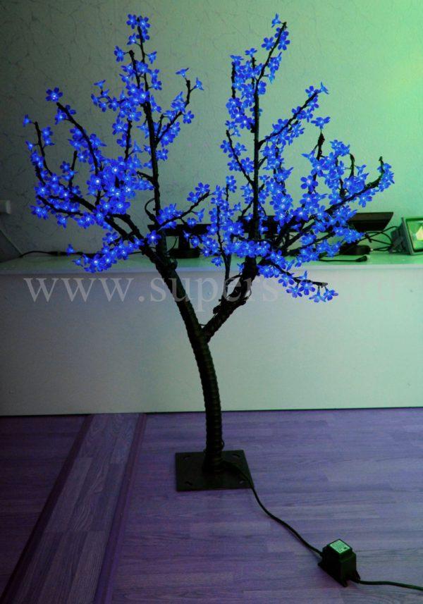 """Светодиодное дерево """"Сакура"""" РHYCL-1.5-B Мощность 30 Вт Высота 1,5м Напряжение 36 Цвет синий"""