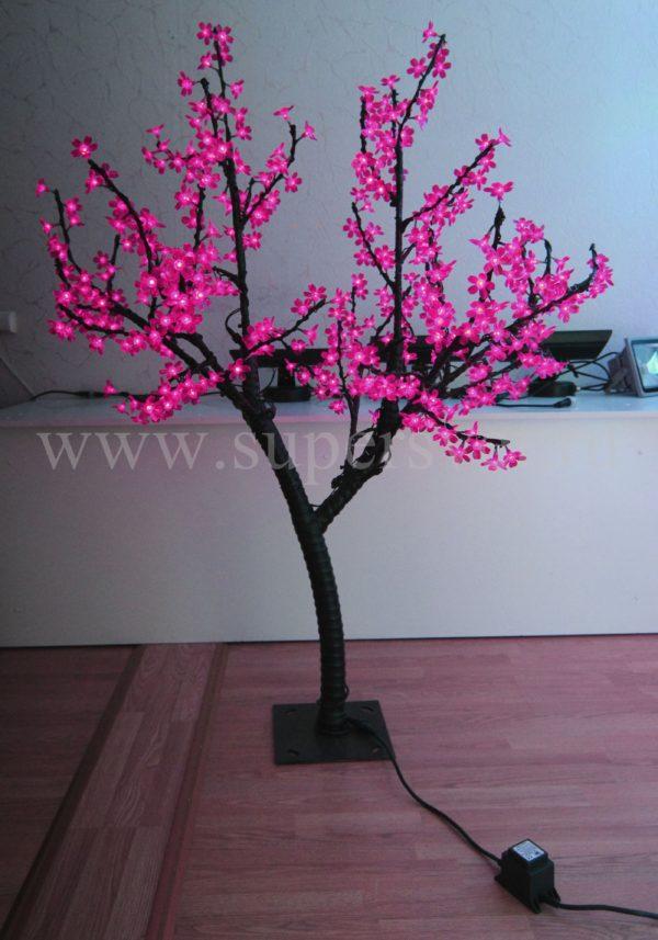 """Светодиодное дерево """"Сакура"""" РHYCL-1.5-P Мощность 30 Вт Высота 1,5м Напряжение 36 Цвет розовый"""