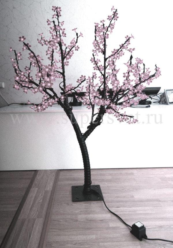 """Светодиодное дерево """"Сакура"""" РHYCL-1.5-W Мощность 30 Вт Высота 1,5м Напряжение 36 Цвет белый"""