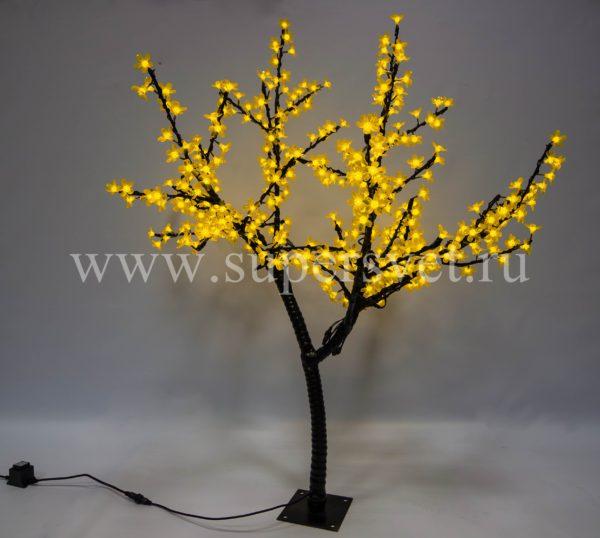 """Светодиодное дерево """"Сакура"""" РHYCL-1.5-Y Мощность 30 Вт Высота 1,5м Напряжение 36 Цвет желтый"""