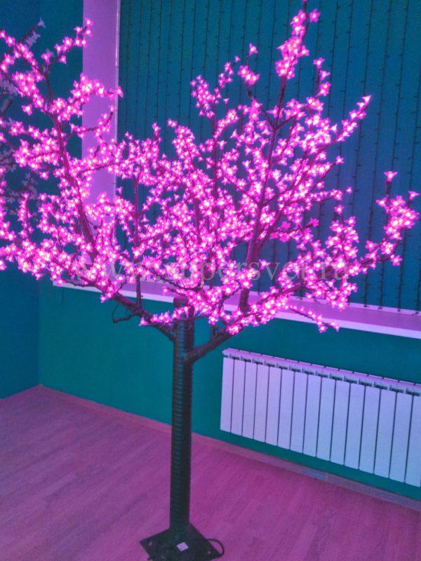 """Светодиодное дерево """"Сакура"""" PHYCL-2.4-P Мощность 136 Вт Высота 2,4 м Напряжение 24 Цвет розовый"""