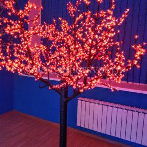 """Светодиодное дерево """"Сакура"""" PHYCL-2.4-R Мощность 136 Вт Высота 2,4м Напряжение 24 Цвет красный"""