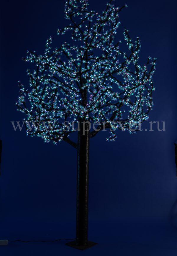 """Светодиодное дерево """"Сакура"""" PHYCL-2.4-RGB Мощность 140 Вт Высота 2,4 м Напряжение 36 Цвет РГБ"""