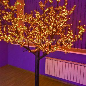 """Светодиодное дерево """"Сакура"""" PHYCL-2.4-Y Мощность 136 Вт Высота 2,4 м Напряжение 24 Цвет желтый"""