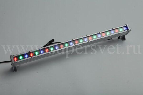 Светодиодный прожектор LW-800-REVO-PC-RGB Мощность 44 Вт Размер 800×120 мм Цвет ргб