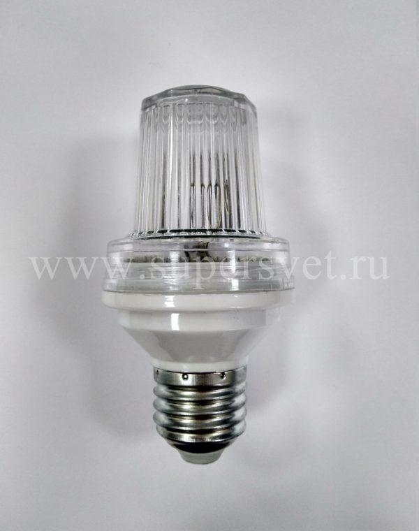 Строб лампа SLB-STRB-002-CL Мощность 3 Вт Цоколь Е27 Вспышки 70-80 в мин. Цвет прозрачный