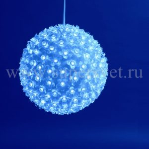 Шар LED-FBP-160-220V-B Мощность 20 Вт Размер 16 см Цвет синий