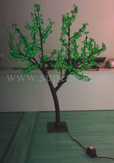 Светодиодное дерево Сакура РHYCL-1.5-G Мощность 30 Вт Высота 1,5 м Напряжение 36 Цвет зеленый