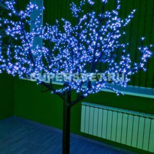 """Светодиодное дерево """"Сакура"""" PHYCL-2.4-B Мощность 136 Вт Высота 2.4 м Напряжение 24 Цвет синий"""