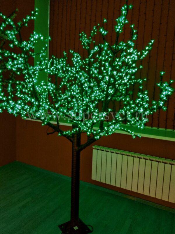 Светодиодное дерево Сакура PHYCL-2.4-G Мощность 136 Вт Высота 2.4 м Напряжение 24 Цвет зеленый