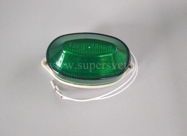 Строб лампа SB-01-G Мощность 2 Вт Цоколь накладная Напряжение 220 Цвет зеленый