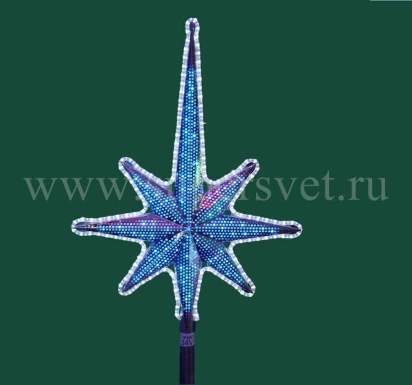 Светодиодная макушка для елей ВN-TOP-1,3М Мощность 14 Вт Размер H130см*L70см Напряжение 24 Цвет бело-синий