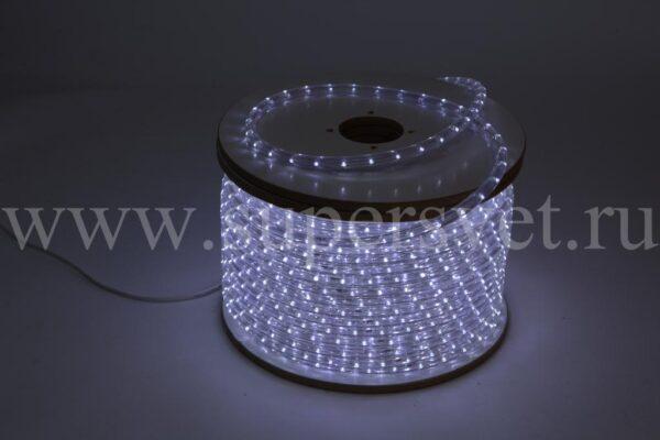 Светодиодный дюралайт LED-DL-2W-240V-W Мощность 2.41 Вт/м Кратность резки 1 м Цвет белый Поперечное сечение 13 мм