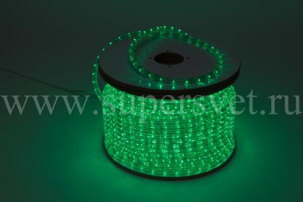 Светодиодный дюралайт LED-DL-3W-240V-G Мощность 2.41 Вт/м Кратность резки 2 м Цвет зеленый Поперечное сечение 13 мм